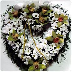 Coroa de flores coração