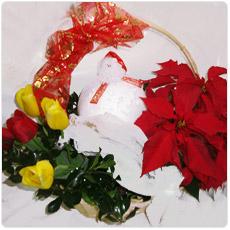Post image for Cesta com tulipas e estrela de natal